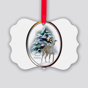 Italian Greyhound Christmas Picture Ornament